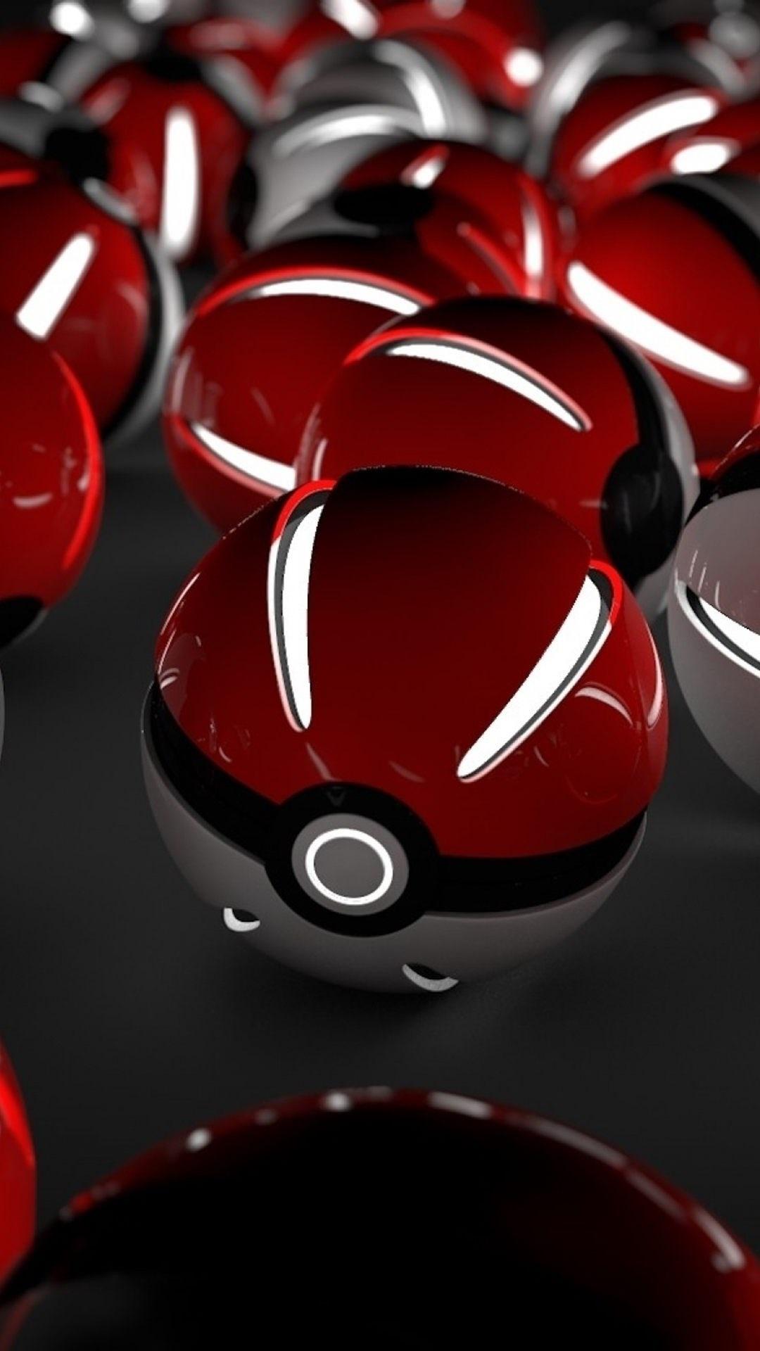 red pokeballs wallpaper