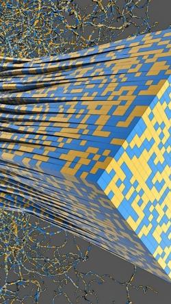 cube paper cut strips