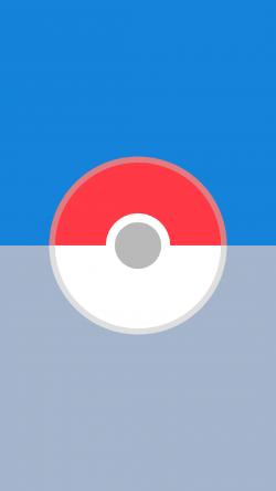 Pokemon Go pokeball blue gray Iphone hd wallpaper