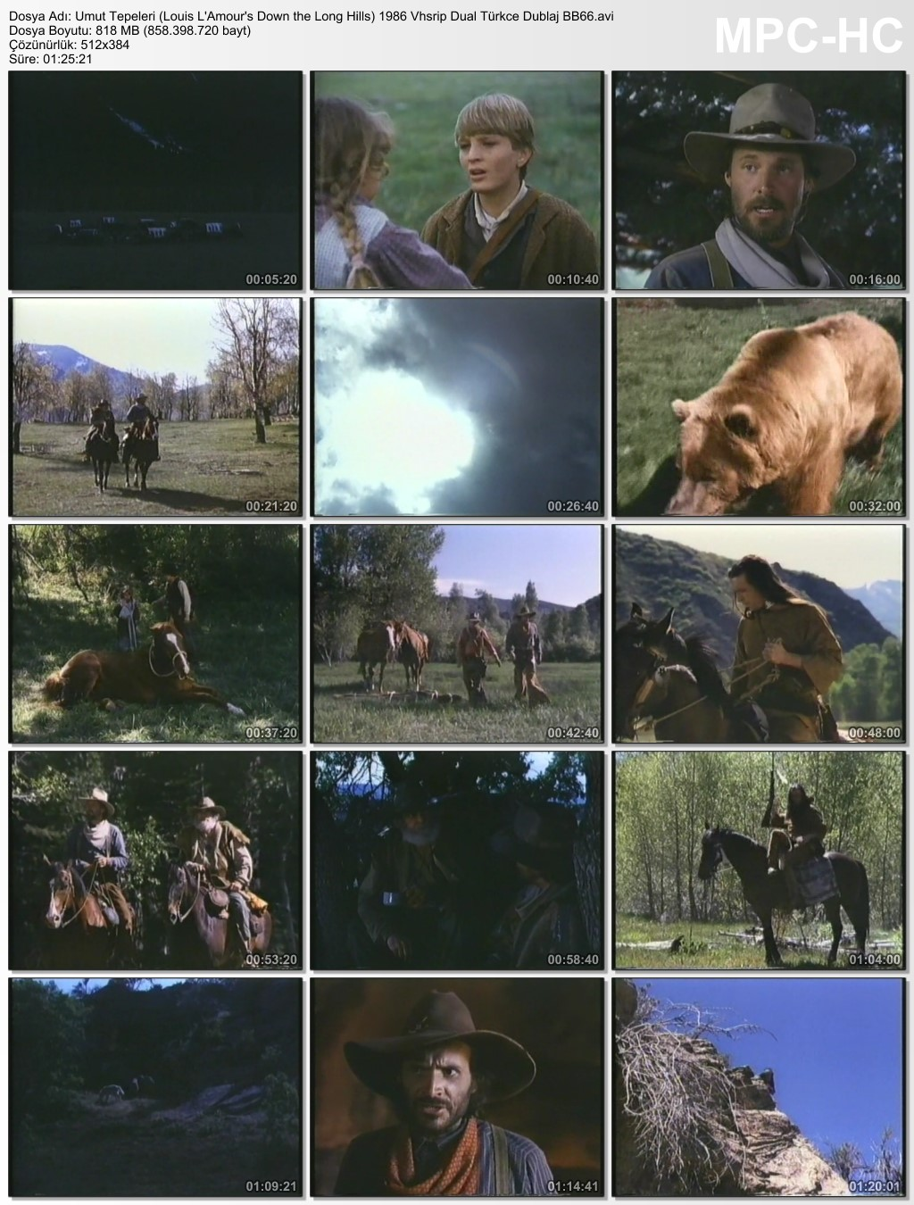 Umut Tepeleri (Louis L'Amour's Down the Long Hills) 1986 Vhsrip Dual Türkce Dublaj BB66 - barbarus