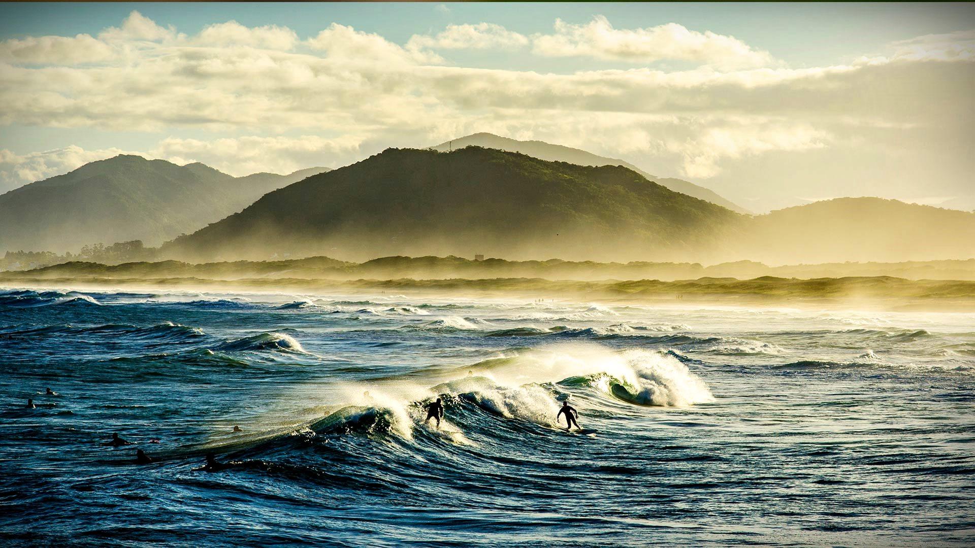 Joaquina Beach  Surfer - Wallect