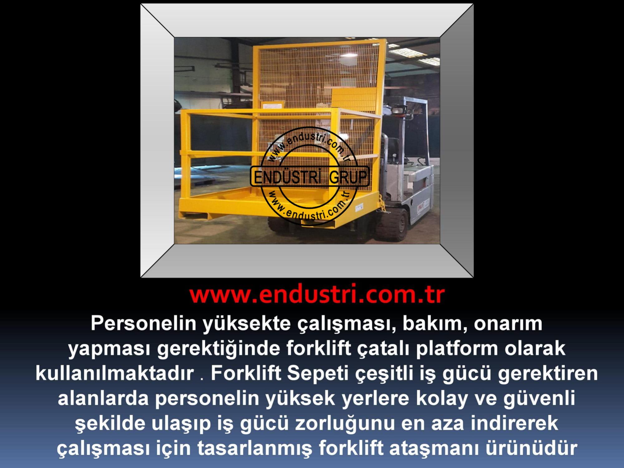 forklift personel tasima sepeti kaldirma ilkyardim bakim tamir sepetleri personel platformu imalati - ryuklemobi