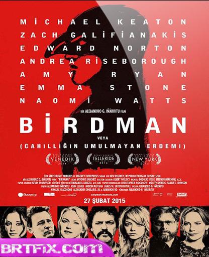 Atmaca  Birdman  2014  Türkçe Dublaj Tek Link  Film  İndir