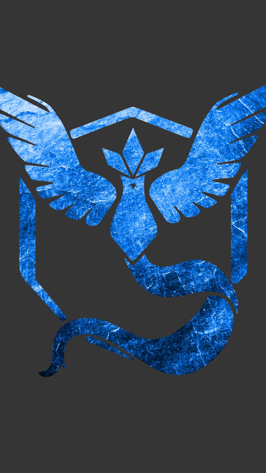 pokemon go team mystic dark blue iphone hd wallpaper piclect