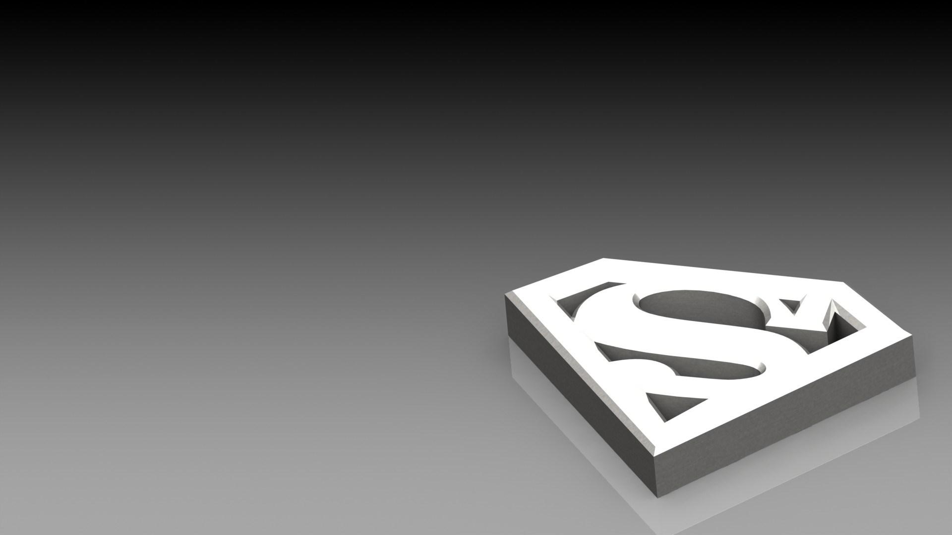superman logo black table