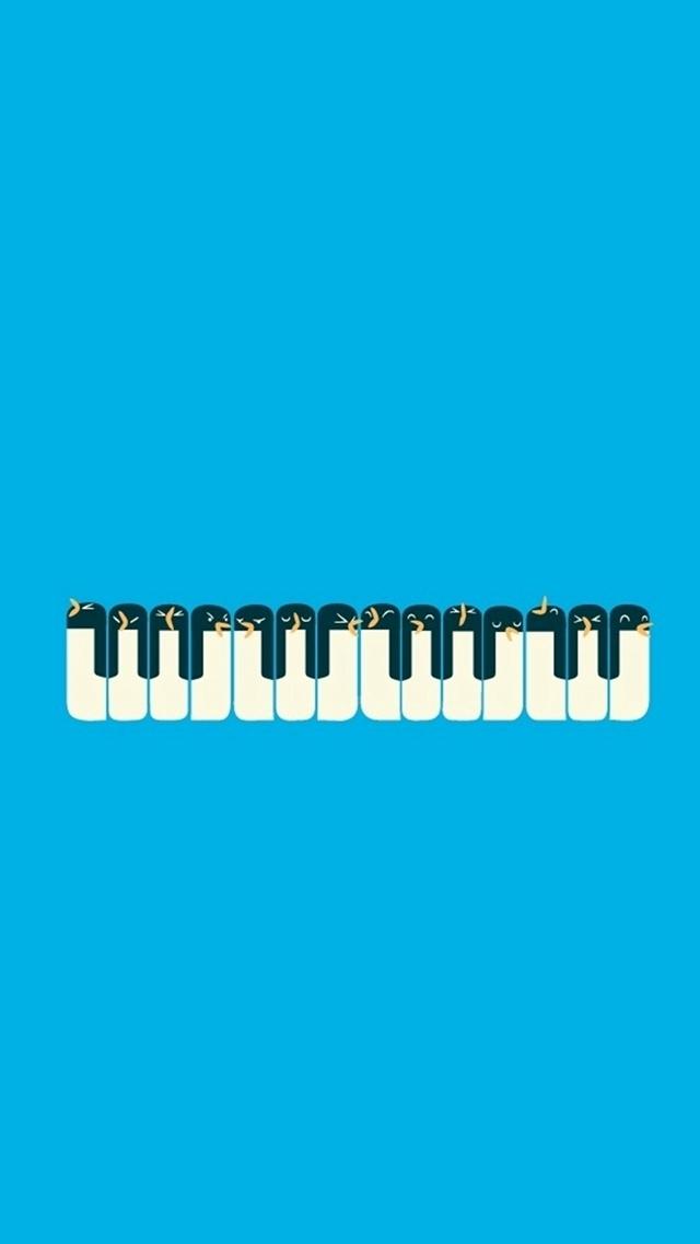 penguin piano