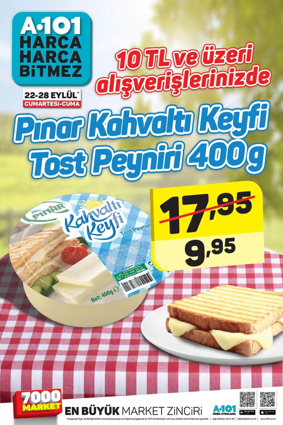 A101 27 Eylül Kataloğu – Pınar Tost Peyniri