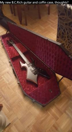 My new B_C_Rich guitar and coffin case, thoughts_