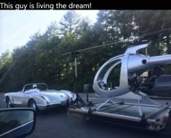 This guy is living the dream!
